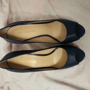 Enzo angiolini blue heels
